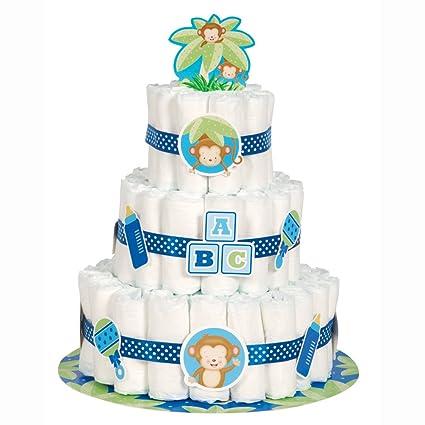 Amazon boy monkey baby shower diaper cake kit 25pc kitchen boy monkey baby shower diaper cake kit 25pc reheart Choice Image