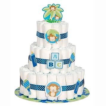 Decoración para fiesta de nacimiento de niño con tema de mono