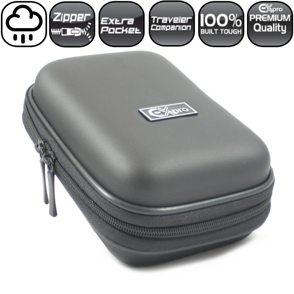 Ex-Pro® Silver Hard Clam Camera Case for Fuji Finepix Z71 Z80 Z90 Z100fd