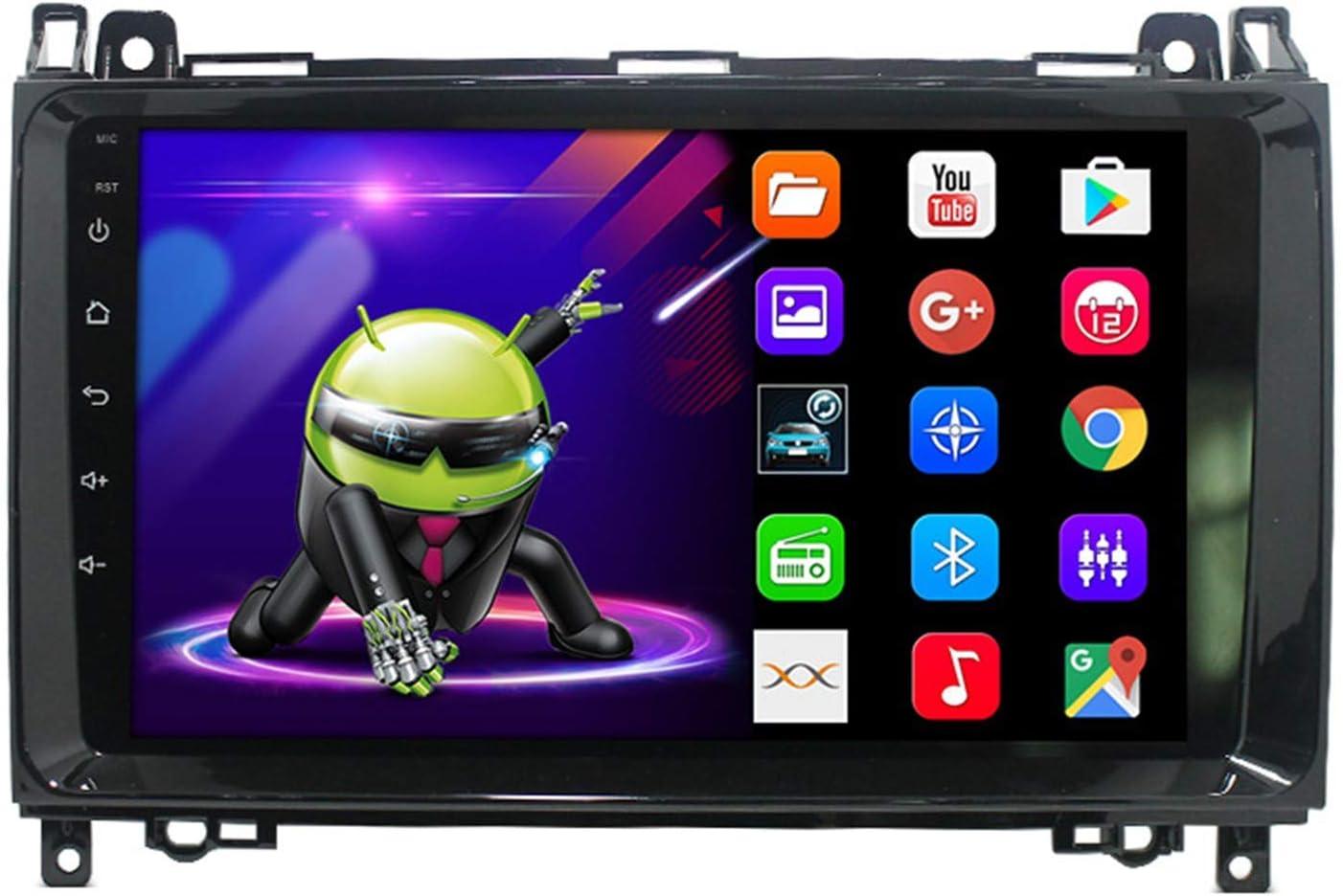 ZJ Android 9.1 Unidad De Control De Navegación para Automóvil Sistema De Posicionamiento Geográfico para Mercedes-Benz W169 W245 B160 B170 B180 B200 W639 Vito Viano W906 Sprinter