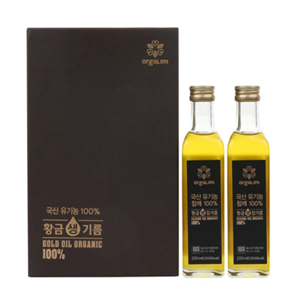 Extra Virgin Cold Pressed Korean 100% Organic Sesame Oil Gift Set [ 2 Bottles ] - 500ml