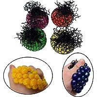 POPLAY Mesh Squishy Ball/Vent Toys/Slime Stress Ball/Anti Stress Toys,Grape Ball,4 PCS