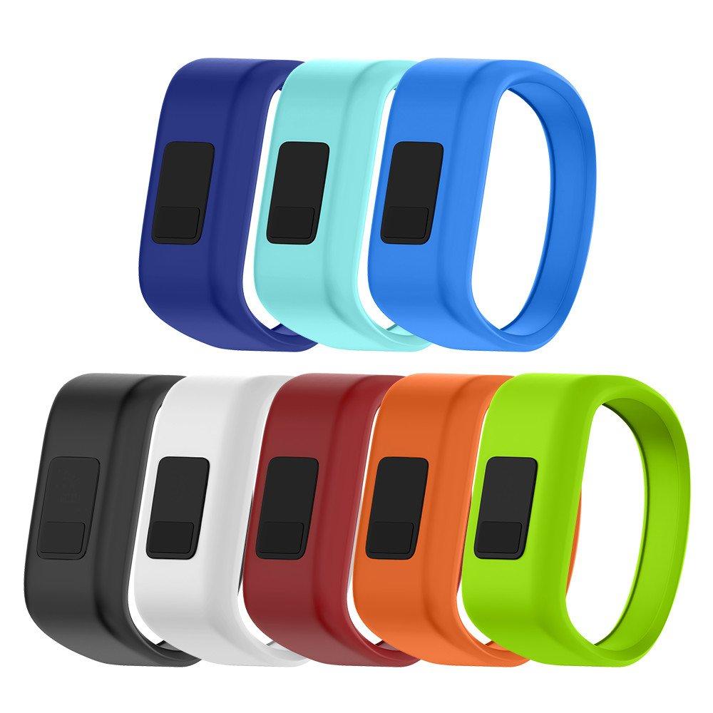 NotoCity Compatible Vivofit JR Watch Band Soft Silicone Replacement Bands for Vivofit JR/Vivofit JR 2/Vivofit 3 Smartwatch (8pcs, Large)