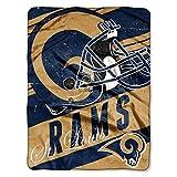 The Northwest Company NFL St. Louis Rams Deep Slant Micro-Raschel Throw, Blue, 46 x 60-Inch