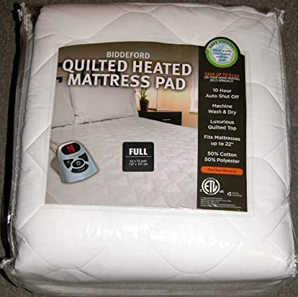 Amazon Com Biddeford Heated Quilted Mattress Pad Full Home Kitchen
