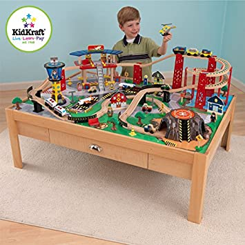 Deluxe KidKraft Airport Express Train Set And Table (3+ Years)