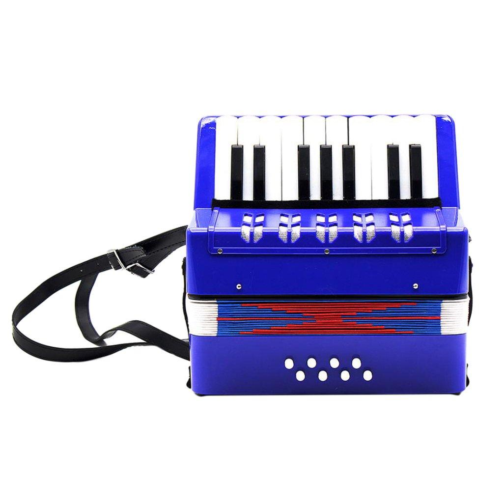 gazechimp Kid Children Accordion 17 Key 8 Bass For Beginner Educational Christmas Gift