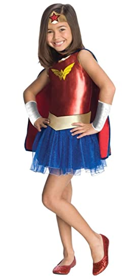 Amazon Com Wonder Woman Tutu Kids Costume Red Toys Games