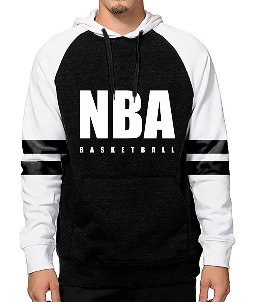Licensed NBA Basketball Black & White Hoodie
