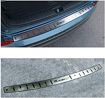 ASDDD Stainless Steel Car Rear Guard Bumper Protector Trim Cover Stickers For Hyundai Tucson 2015-2018 Car Styling Accessories Trunk Kick Plates Tread Plate Sill