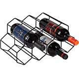 Lesige 金属製 ワインボトルホルダー ワインスタンド 積み重ね式 ワイン棚 9本用 ワインラック ワイン収納 シャンパンホルダー ワインストレージ 家飾り (ブラック)