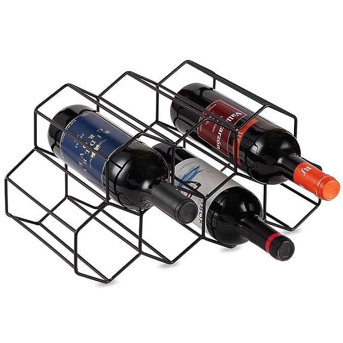 Amazon.com: Sistema de almacenamiento de vino de metal para ...