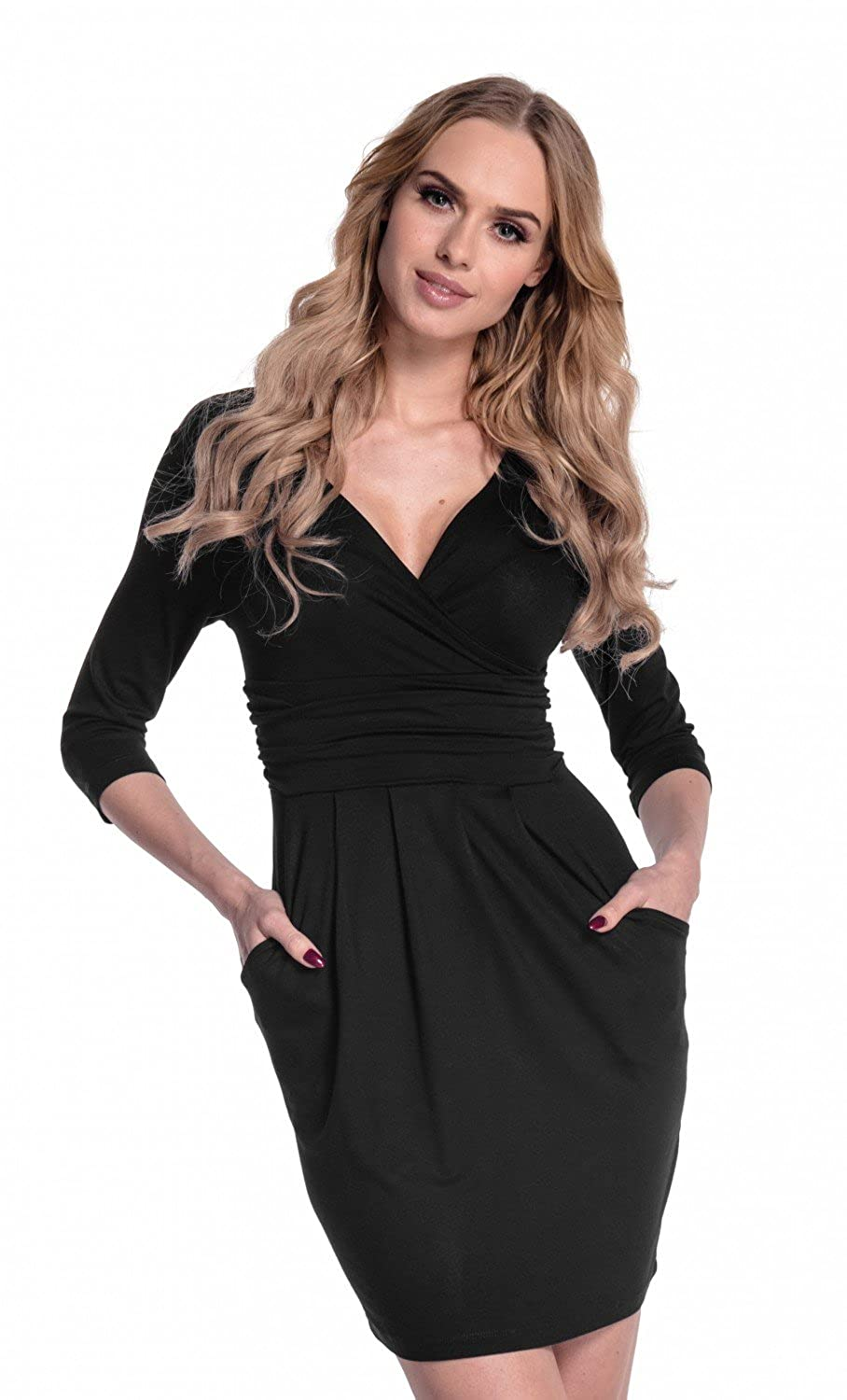 Jersey Tulip Dress with pockets and empire waist - true to size and great  fit for every body shape. Excellent stretch fabric allows comfortable fit ccd524d2c98f