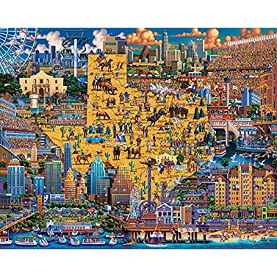 Dowdle Jigsaw Puzzle - Best of Texas - 500 Piece: Toys & Games