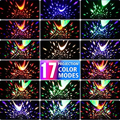 MOKOQI Star Projector, Kids' Party Centerpieces, Multiple Colors Night Light Lamp Romantic Rotating Cosmos Star Sky Moon Projector for Children Kids Bedroom (Pink): Home & Kitchen