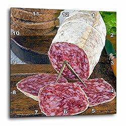 3dRose dpp_82144_3 Italy, Tuscany, Cuisines, Tuscan Salame-Eu16 Nto0102-Nico Tondini-Wall Clock, 15 by 15-Inch