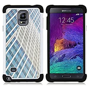 For Samsung Galaxy Note 4 SM-N910 N910 - building lines city skyscraper Dual Layer caso de Shell HUELGA Impacto pata de cabra con im??genes gr??ficas Steam - Funny Shop -