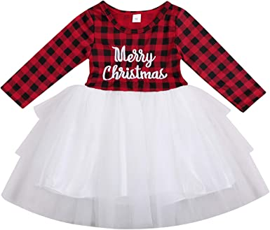 1-5T Kids Toddler Baby Girl Christmas Princess Dresses Warm Xmas Santa Gift Party Special Occasion Fluffy Dress