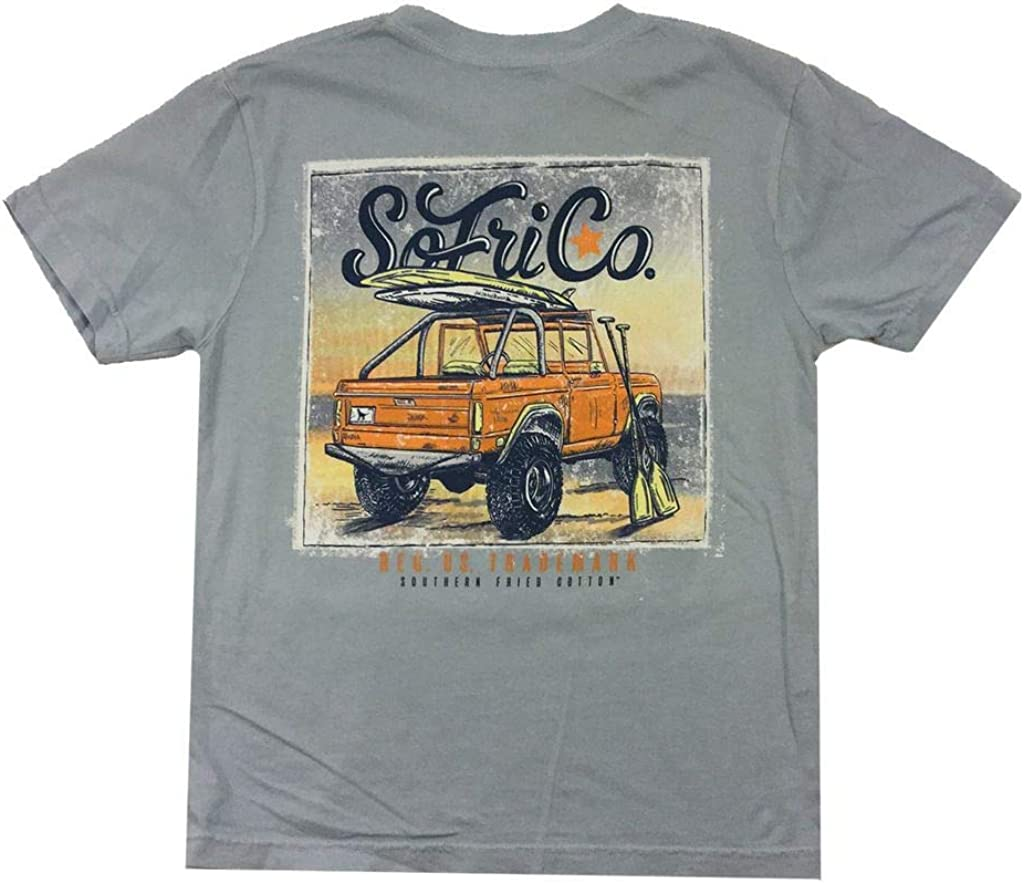 Southern Fried Cotton Youth Morning Surf Short Sleeve T-Shirt-Southern Sky-ym
