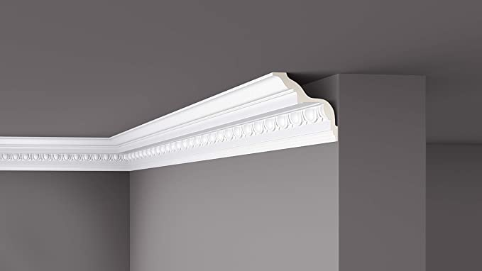 10 Mètres profil en stuc Moulage polystyrène XPS Corniche de Plafond 29x29mm