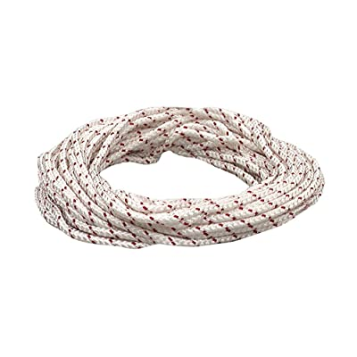 Lehigh BPE650PW-P 3/16-Inch by 50-Feet Polyester Diamond Braided Rope, White/Pink - Nylon Rope - .com