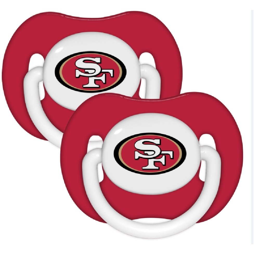amazon com baby fanatic nfl team pacifier 2 pack san francisco