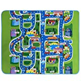 Kids Play Mat Carpet Rug, Satkago Extra Large City Life Great Playing Cars Toys, Children Educational Road Traffic Play Mat for Bedroom Play Room Game Safe Area