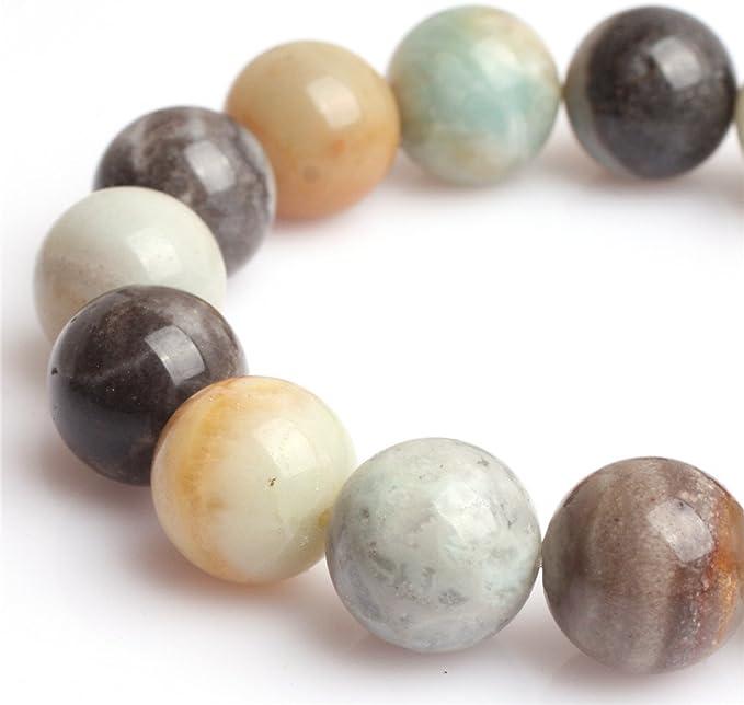 Spherical Amazonite Stone Beads 6mm Multicolor Round Gemstone 16 Inch Strand