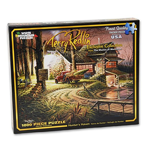 Water Works Monopoly Costume (White Mountain Puzzles Hunters Haven - 1000 Piece Jigsaw Puzzle)