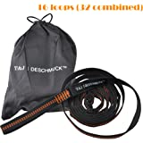 DESCHMUCK Hammock Straps with Adjustable 32 Loops For Forest Tree Outdoor Garden Extra Strong Lightweight, No Stretch Polyester