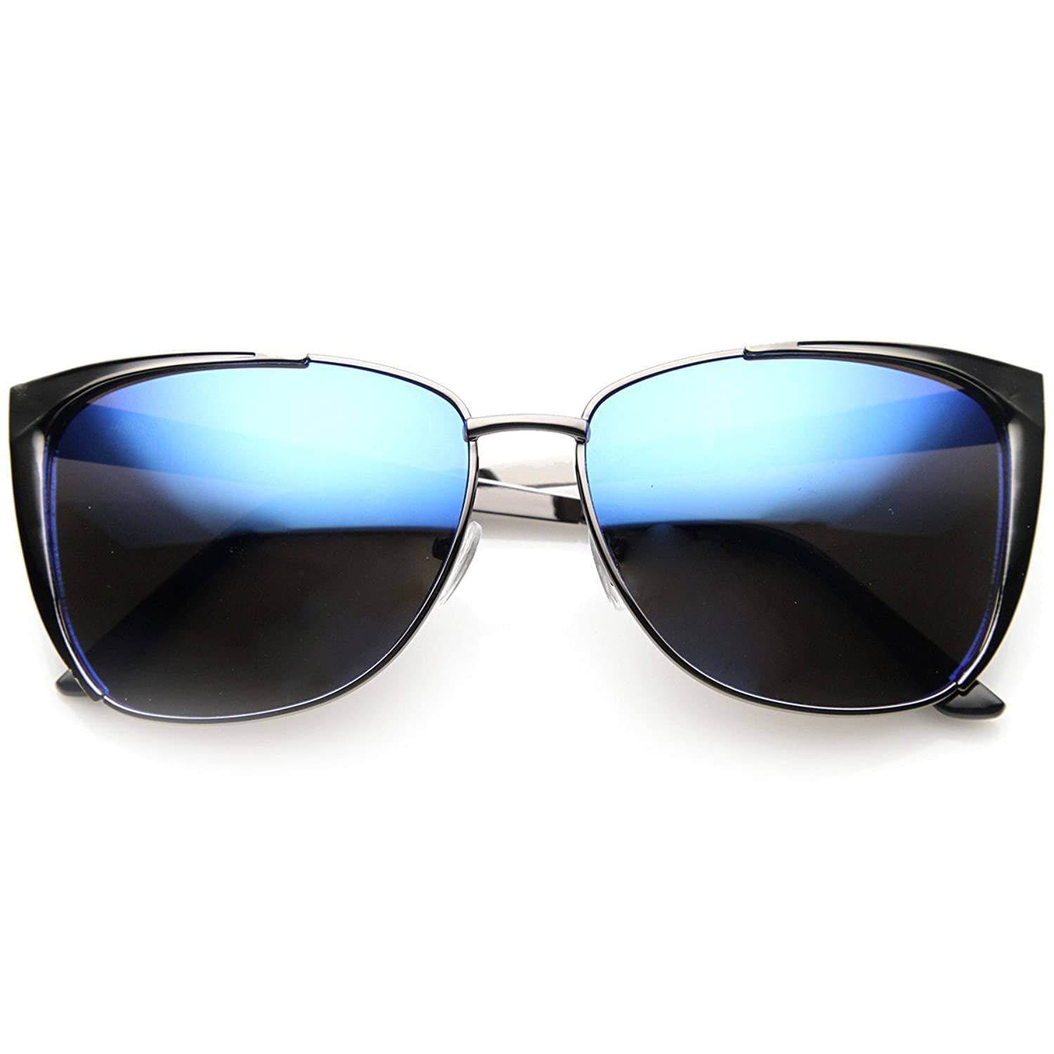 zeroUV - Modern Thin Metal Frame Color Flash Mirrored Lens ...