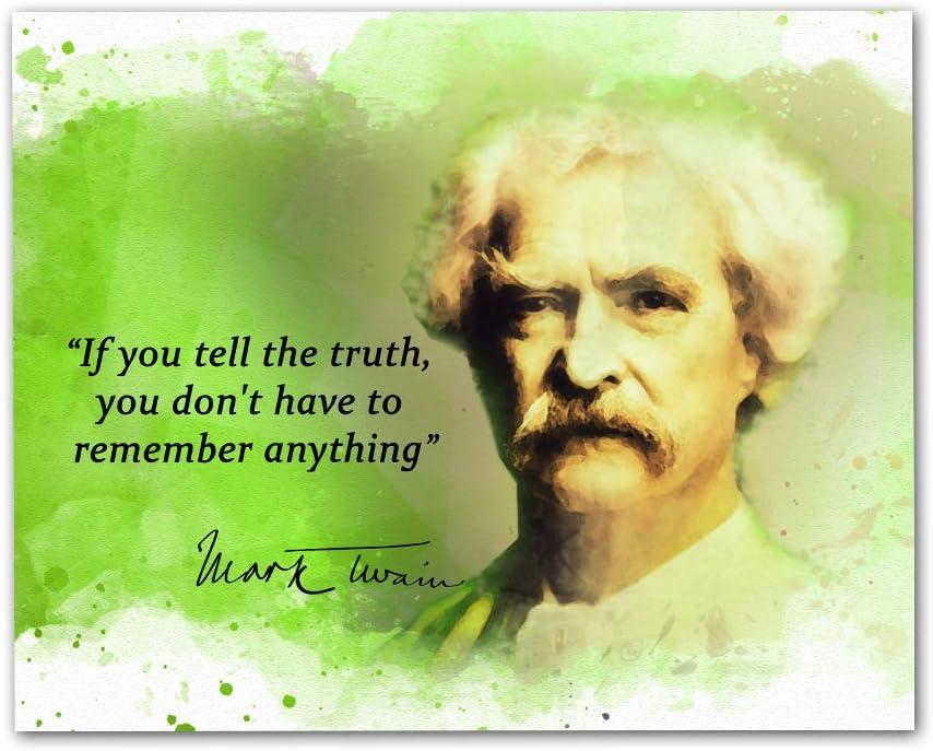 Amazon De Mark Twain Zitate Wandbild 20 3 X 25 4 Cm Ungerahmt
