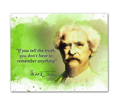 Amazon.com: Mark Twain Quotes Wall Art, 8\