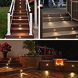 10pcs LED Deck Light Kit Outdoor Yard Garden Patio Stair Landscape Pathway Decor