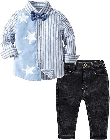 Cvbndfe Trajes de Caballero Chico Camisa de Manga Larga para niños, Traje para Caballero, Pantalones, Conjuntos con Trajes de corbatín, Conjuntos de 2 Piezas Hidalgo (Color : Azul, tamaño : 100): Amazon.es: Hogar