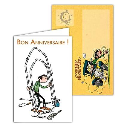 Gaston Lagaffe glct-6062 tarjeta de cumpleaños para todos ...