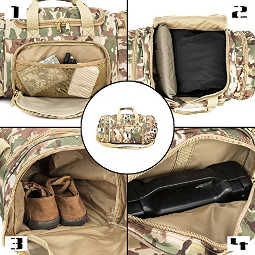 WolfWarriorX Military Tactical Duffle Bag, Large Storage Bag Luggage Duffle for Traveling, Gym, Vacation, Hiking & Trekking (OCP) by WolfWarriorX (Image #4)