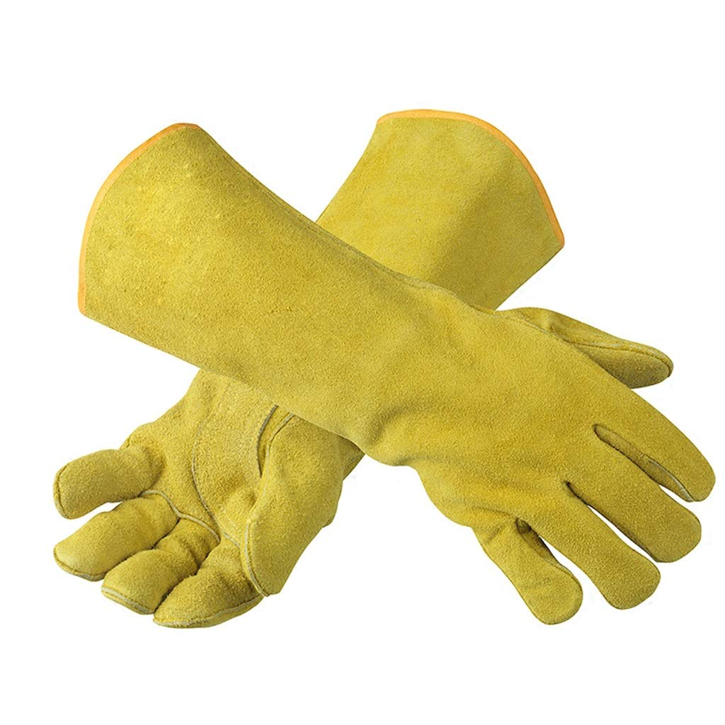 LZRZBH Welding Gloves,100% Leather Gloves Lined Heat Resistant - Flame Retardant Supple Lined Leather,Perfect for Stove, Fireplaces.