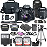 Canon EOS Rebel T6 DSLR Camera Bundle with Canon EF-S 18-55mm f 3.5-5.6 IS II Lens + Canon EF 75-300mm f 4-5.6 III Lens + 2pc SanDisk 32GB Memory Cards + Accessory Kit