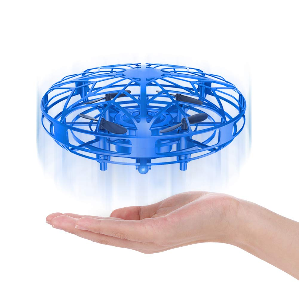 LEEHUR Mini Drones Flying Ball Toy for Kids UFO Quadcopter RC Helicopter Hand Controlled Obstacle Avoidance 360 Rotation Interactive Infrared Induction Flashing LED Lights .