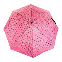 Coach Heart Print Umbrella 63242 Multicolor