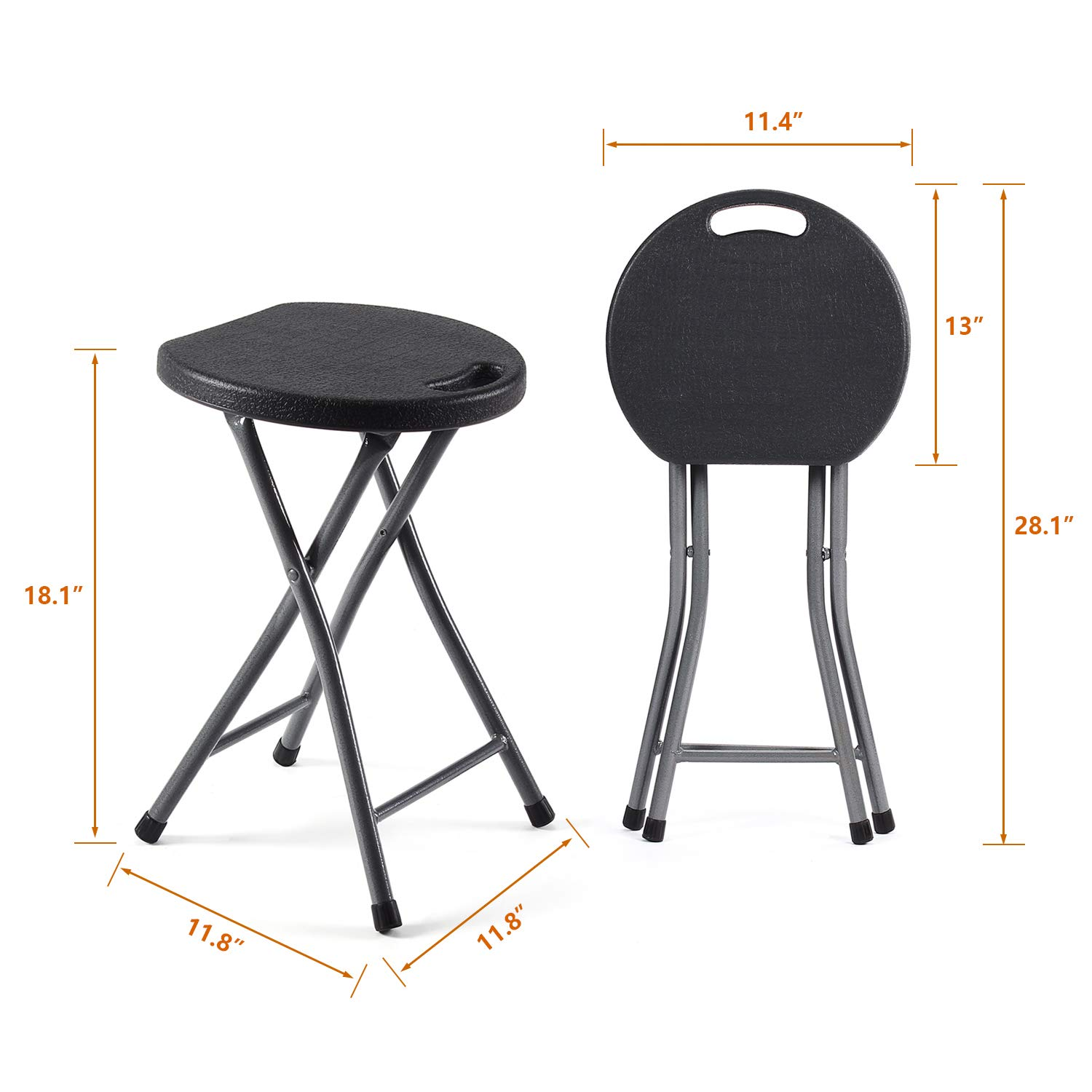 Miraculous Details About Tavr Folding Stool Set Of Two 18 1 Inch Height Light Weight Metal And Plastic Ibusinesslaw Wood Chair Design Ideas Ibusinesslaworg