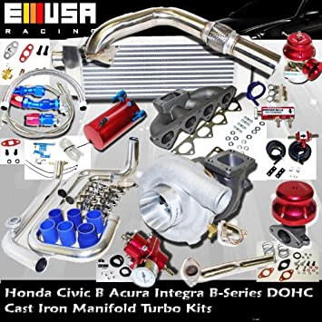Turbo Kit B Serie 88 - 91; HONDA CRX/Civic 94 - 01 Acura Integra B18 precisión, 5511, Turbo de batería: Amazon.es: Coche y moto