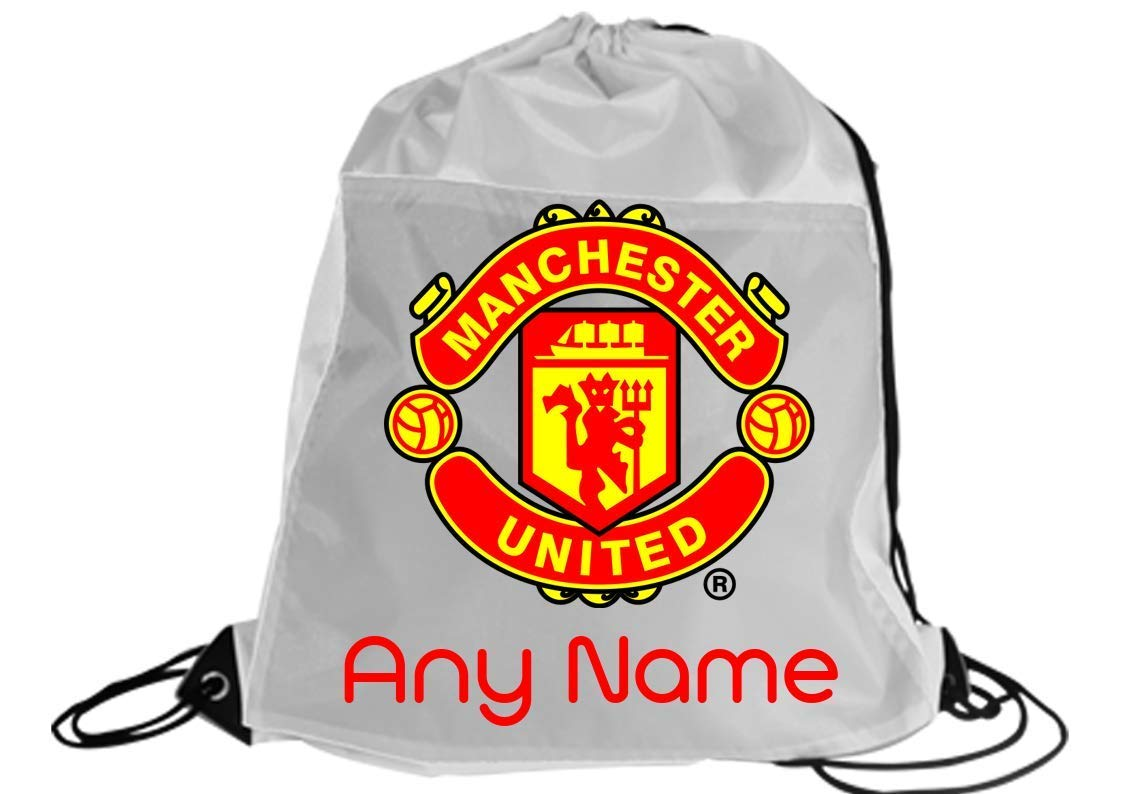 boys football any team Arsenal/manchester united/liverpool/Chelsea/Celtic/Rangers/ETC Personalised Any name gym/dancing/swimming/school drawstring bag backpack gymsac