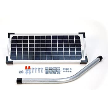 10 watt solar panel kit fm123 for mighty mule automatic gate openers gate hardware. Black Bedroom Furniture Sets. Home Design Ideas