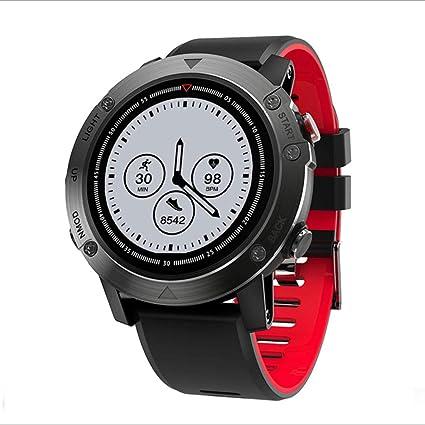 RFJJ Elegante Reloj Inteligente a Prueba de Agua Modo multideportes (Color : B)