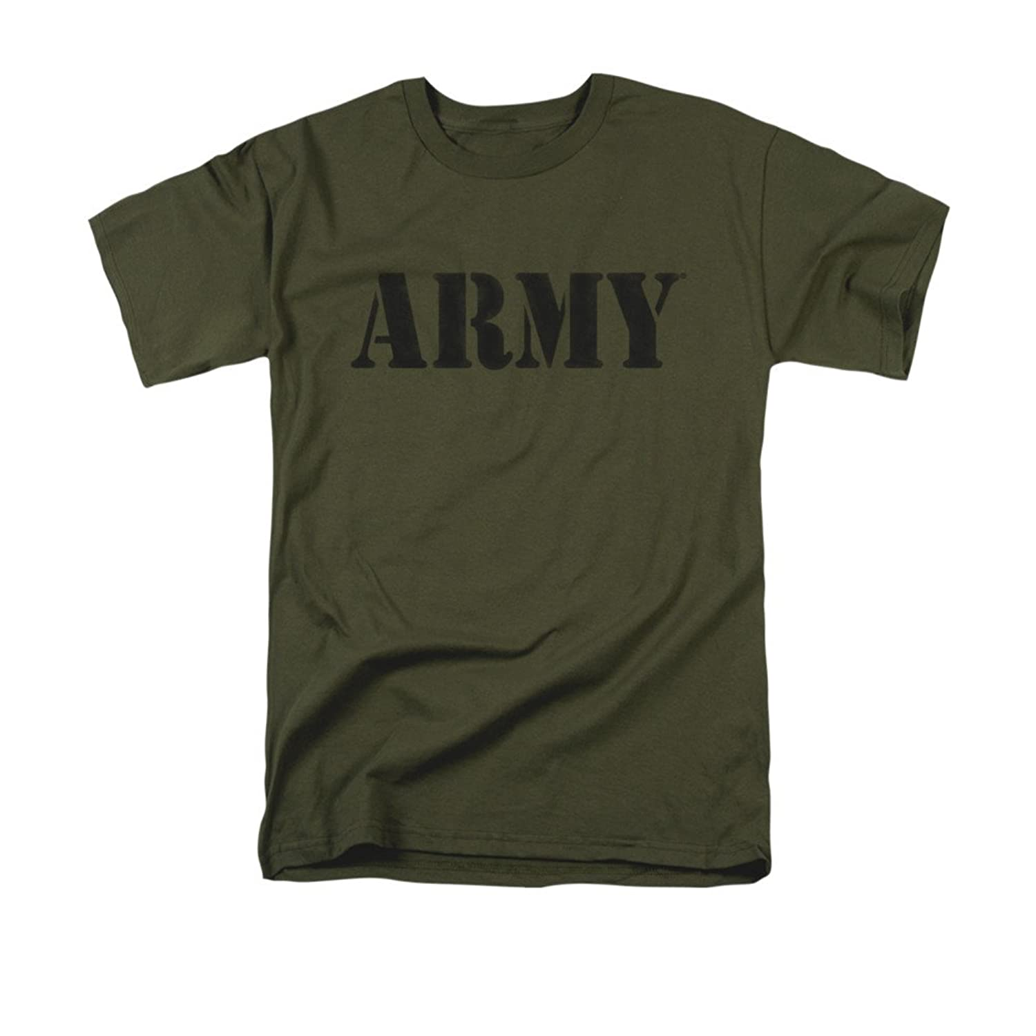 ARMY United States Army Classic Stencil Font Logo Adult T-Shirt