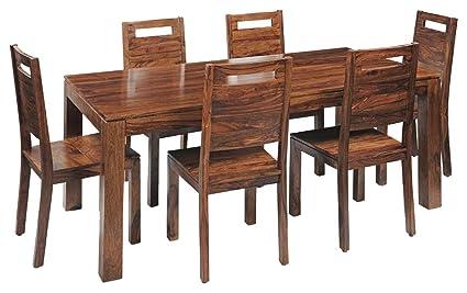 JSV Designs Teak Wooden Dining Table Six Seater | Dining