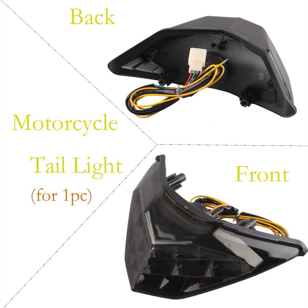 Amazon.com: Timmart Motorcycle Brake Light for Kawasaki ...