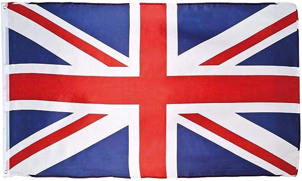 RED Flag  5ft x 3ft WHITE UNION JACK